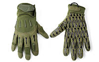 Перчатки тактические BLACKHAWK  (PL, закрытые пальцы, р-р L-XL, оливковый)