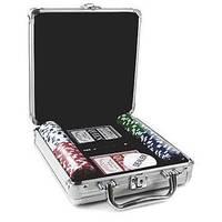 Покерный набор в алюм. кейсе-100 IG-4392-100