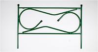 Забор для газона металлический Прямой 5 секций (450х675 мм) Белорусь GP-006