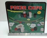 Покерный набор в метал. коробке-500 IG-3006