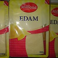 Сыр полутвёрдый Эдам порезанный 200 грамм, Италия