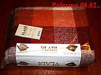 Плед  полуторный 140х200, тм. VLADI, Палермо «Palermo» 08.02 (бел-оранж-бордо)
