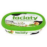 Сыр-крем (сырная намазка) Laciaty с зеленым луком Польша 135г