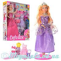 Кукла Defa Lucy 8269 с одеждой: платье + наряд русалки + купальник + аксессуары