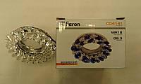 Встраиваемый  светильник Feron CD4141 MR16 прозрачный(цвет корпуса-серебро)