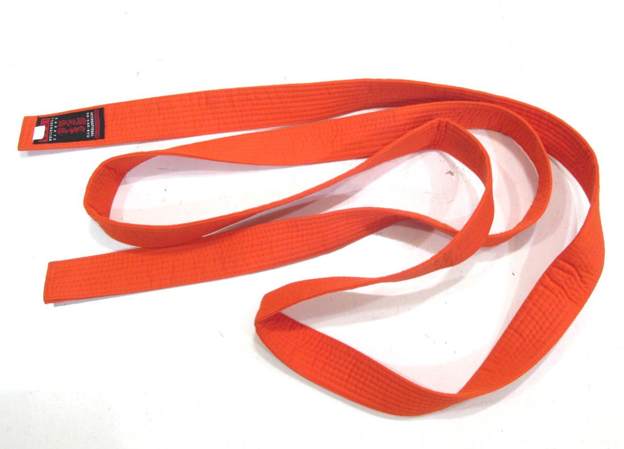Пояс кимоно IGKF, 6, Оранжевый, Как Новый