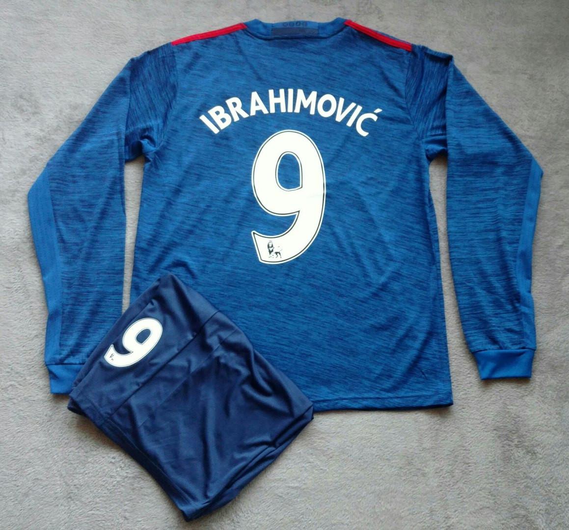 Футбольная форма Манчестер Юнайтед Ибрагимович 2016-2017 синяя