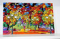 """Вітражна картина """"Осінній парк"""""""