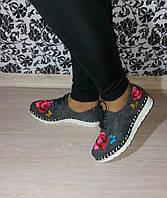 Туфли с вышивкой Польша