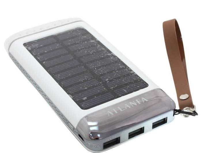Портативний зарядний пристрій Power Bank Atlanfa AT-2029 Elite на 3 USB + сонячна батарея