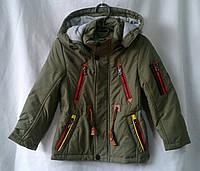 Куртка деская  демисезонная  для мальчиков 2-6 лет,хаки