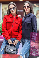 "Куртка-бомбер короткая с карманами ""Лима"" разные цвета GY99"