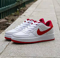 Кроссовки Nike Air Force Low White/Red мужские