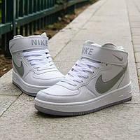 Кроссовки Nike Air Force High White/Grey Sole мужские