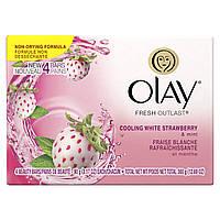Olay Fresh Outlast Увлажняющее мыло с ароматом белой клубники и мяты 4 шт. по 90 г (США)