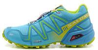 Женские кроссовки Salomon Speedcross 3 (Саломон) голубые