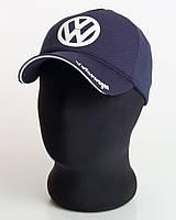"""Мужская бейсболка с автологотипом """"Volkswagen"""" темно-синего цвета (лакоста пятиклинка)"""