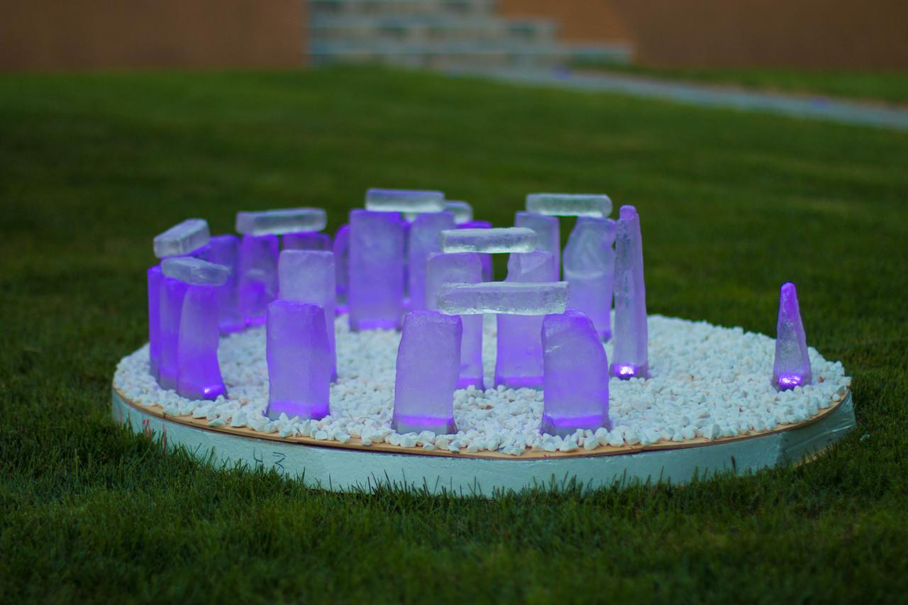 LED-камень Stonehenge, RGB (Управление цветом освещения) D=1000, h=110