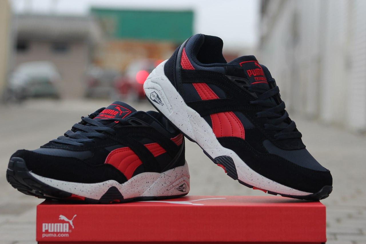 41fd23aaa262 Puma Trinomic женские кроссовки синие c красным (Реплика ААА+) - bonny-style