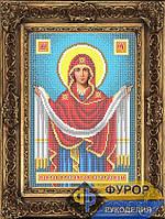 Схема иконы для вышивки бисером - Покров Пресвятой Богородицы, Арт. ИБ4-031-1