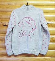 Теплый свитер для девочки (рост 110) Украина
