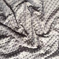 Плюш Minky средне-серого цвета 350 г/м2 № м-41