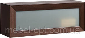 Полка навесная настенная со стеклянным фасадом 106 Ск Клео (SM), из серии модульной мебели Клео 106*395*305