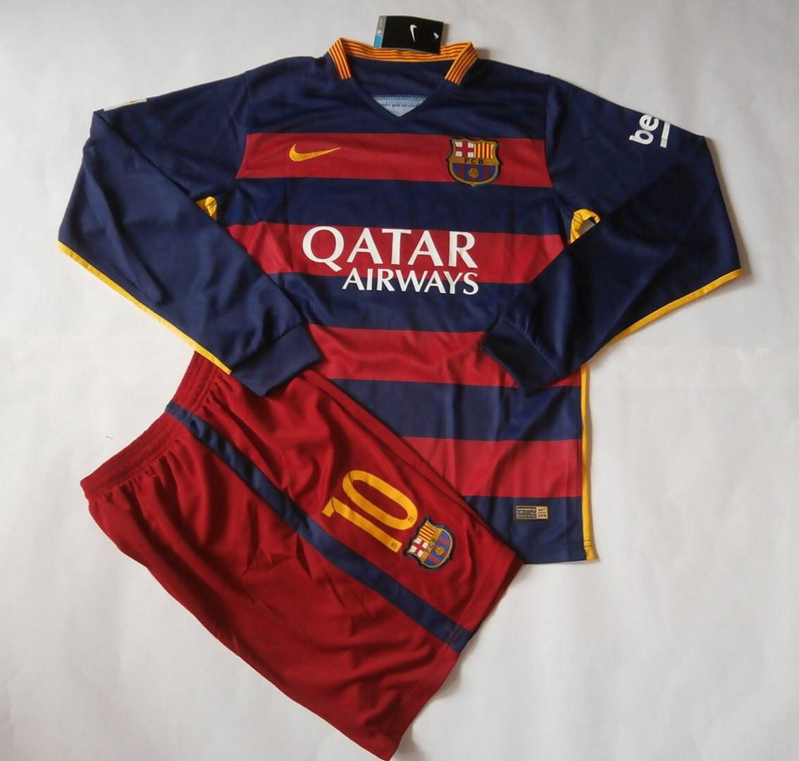 Футбольная форма Барселона 2015-2016 гранатовая