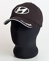 """Мужская бейсболка с автологотипом """"Hyundai"""" черного цвета (лакоста пятиклинка)."""