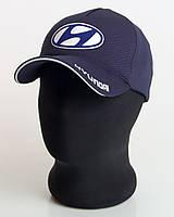 """Мужская бейсболка с автологотипом """"Hyundai"""" темно-синего цвета (лакоста пятиклинка)."""