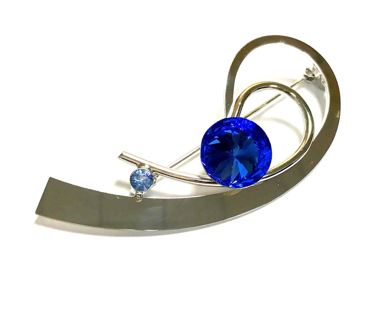 Брошь родий, Классика с Swarovski Crystal