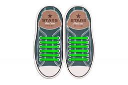 Прямые силиконовые антишнурки для кроссовок и кед AntiLaces 53 мм