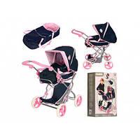 Коляска для ляльок 4 колеса, люлька-переноска, кошик, в коробці 7,5х59х20см D-86615 (3)