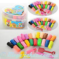 Тесто для лепки (пластилин для лепки) Сердечко 0500, 3 вида: 24 цвета + инструменты