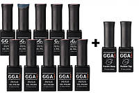 Набор гель-лаков GGA 10+2 в подарок!