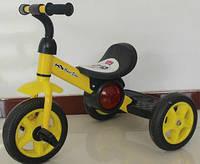 Трехколесный детский велосипед  1713 желтый***