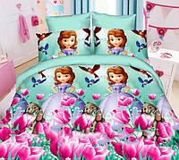 Детский полуторный комплект постельного белья София