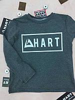 Модная детская укороченная кофта серого цвета, с надписью HART. Размер: 86-110