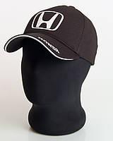 """Мужская бейсболка с автологотипом """"Honda"""" черного цвета (лакоста пятиклинка)."""