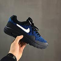 Кроссовки Nike Air max 87 ultra flyknit black/blue. Живое фото. Топ качество! (аир макс, эир макс)