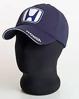 """Мужская бейсболка с автологотипом """"Honda"""" темно-синего цвета (лакоста пятиклинка)."""