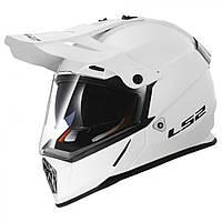 LS2 MX436 PIONEER, GLOSS WHITE, XL