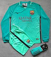 Футбольная форма Барселона 2016-2017 зеленая