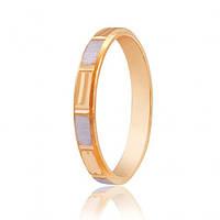 Золотые обручальные кольца комбинированные 585, красный, 1.72, 66719, 20,5
