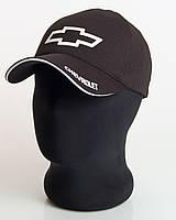 """Мужская бейсболка с автологотипом """"Chevrolet"""" черного цвета (лакоста пятиклинка)."""