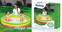 Детский надувной бассейн Радуга Bestway 51103: 152х30см, надувное дно