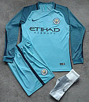 Футбольная форма Манчестер Сити 2016-2017 голубая