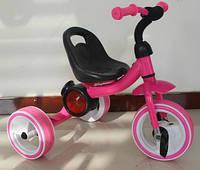 Трехколесный детский музыкальный  велосипед  1714 розовый***
