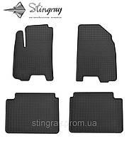 Комплект резиновых ковриков Stingray для автомобиля  Chevrolet Aveo (T200, T250) 2004-    4шт.