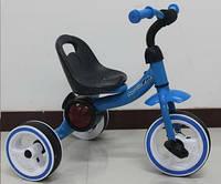 Трехколесный детский музыкальный  велосипед  1714 синий***
